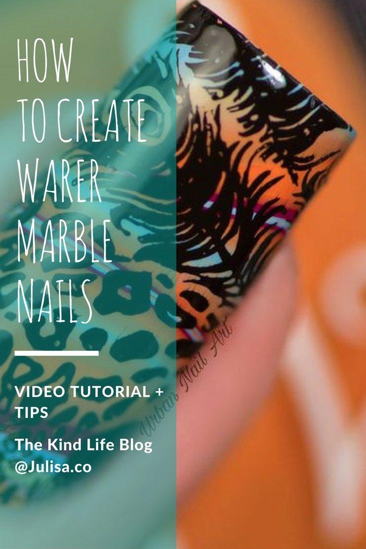 Watermarble Nails Tutorial [VIDEO] | Julisa Vegan Nail Polish