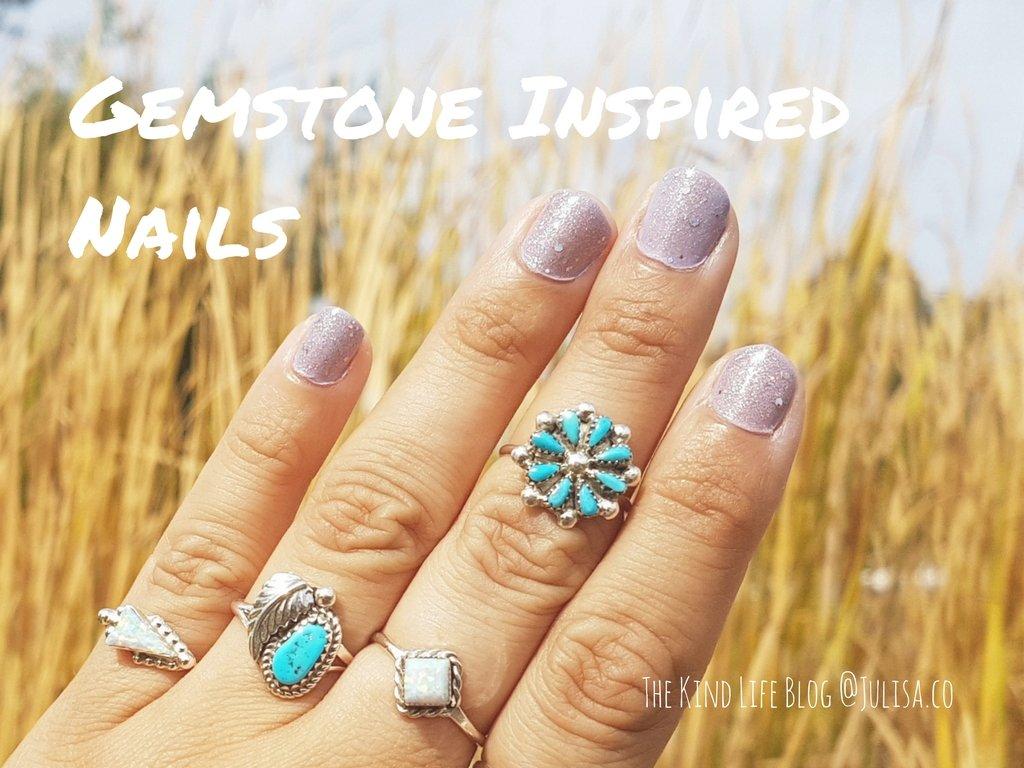 Gemstone inspired nails | Julisa.co