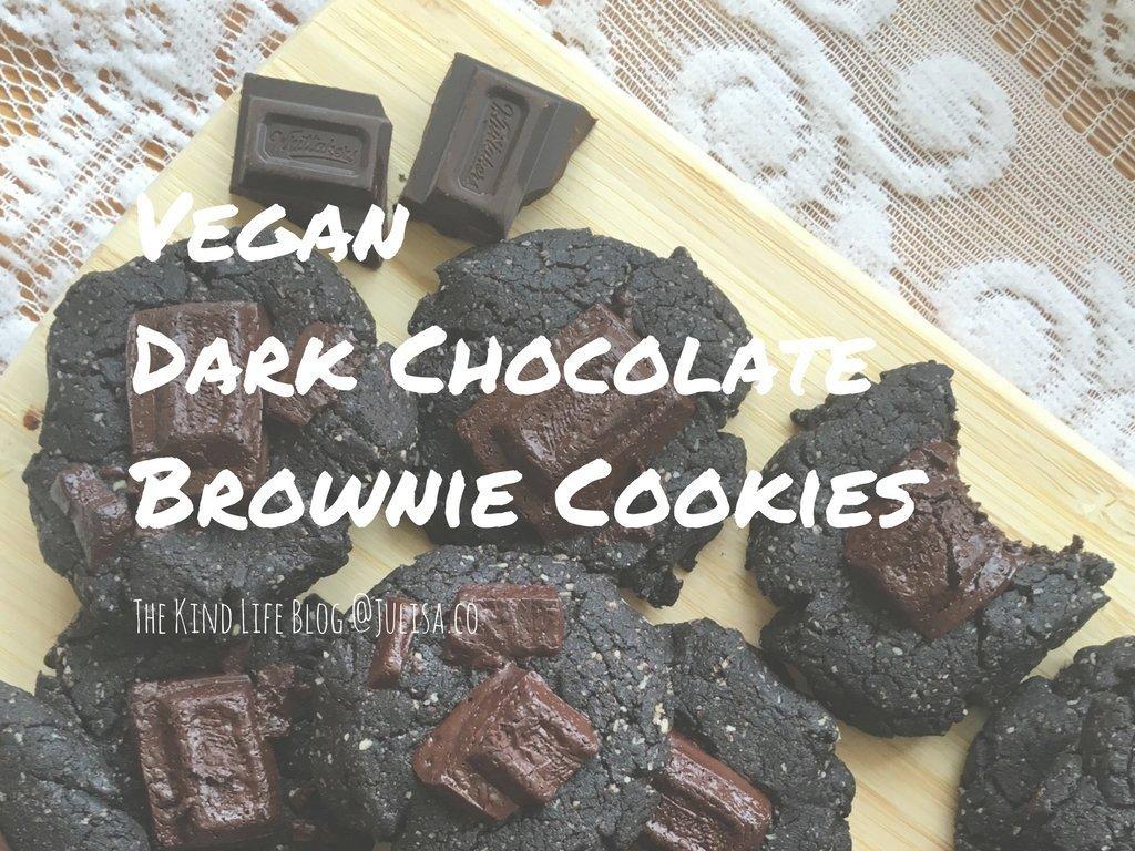 Vegan Eats: Vegan Dark Chocolate Brownie Cookies   Julisa.co