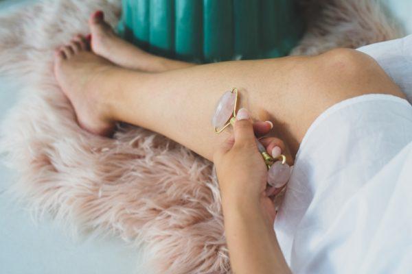 Crystal Gemstone Facial Massage Roller Wand (Rose Quartz)