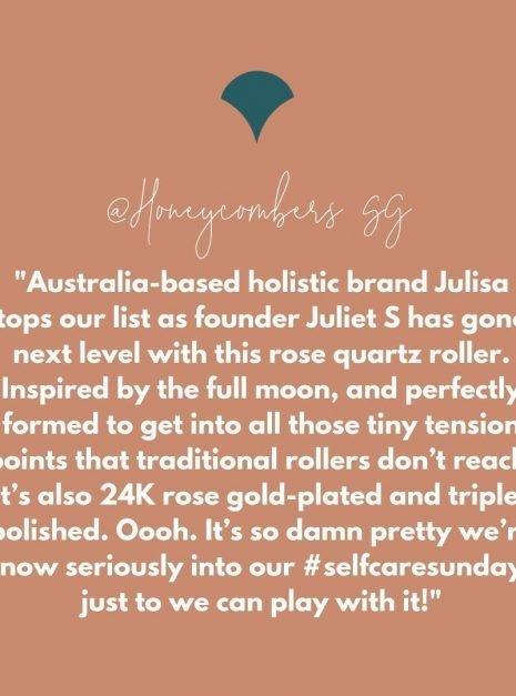 J-RO by Julisa 24K Gold Rose Quartz Face Roller Magic Wand (rose gold)