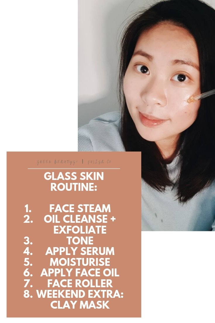 How To Get Glass Skin Look Without Makeup: Korean Beauty Glass Skin Routine | JULISA.co