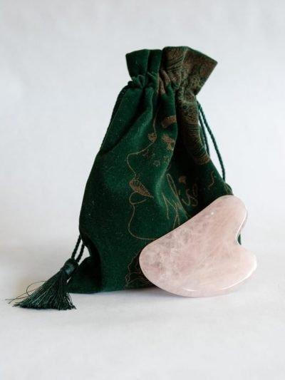 Rose Quartz Gua Sha Skin Contouring Stone JULISA.co