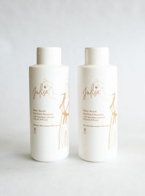 Natural Nail Polish Remover Acetone-Free Water-Based (with Bamboo Extracts) JULISA.co
