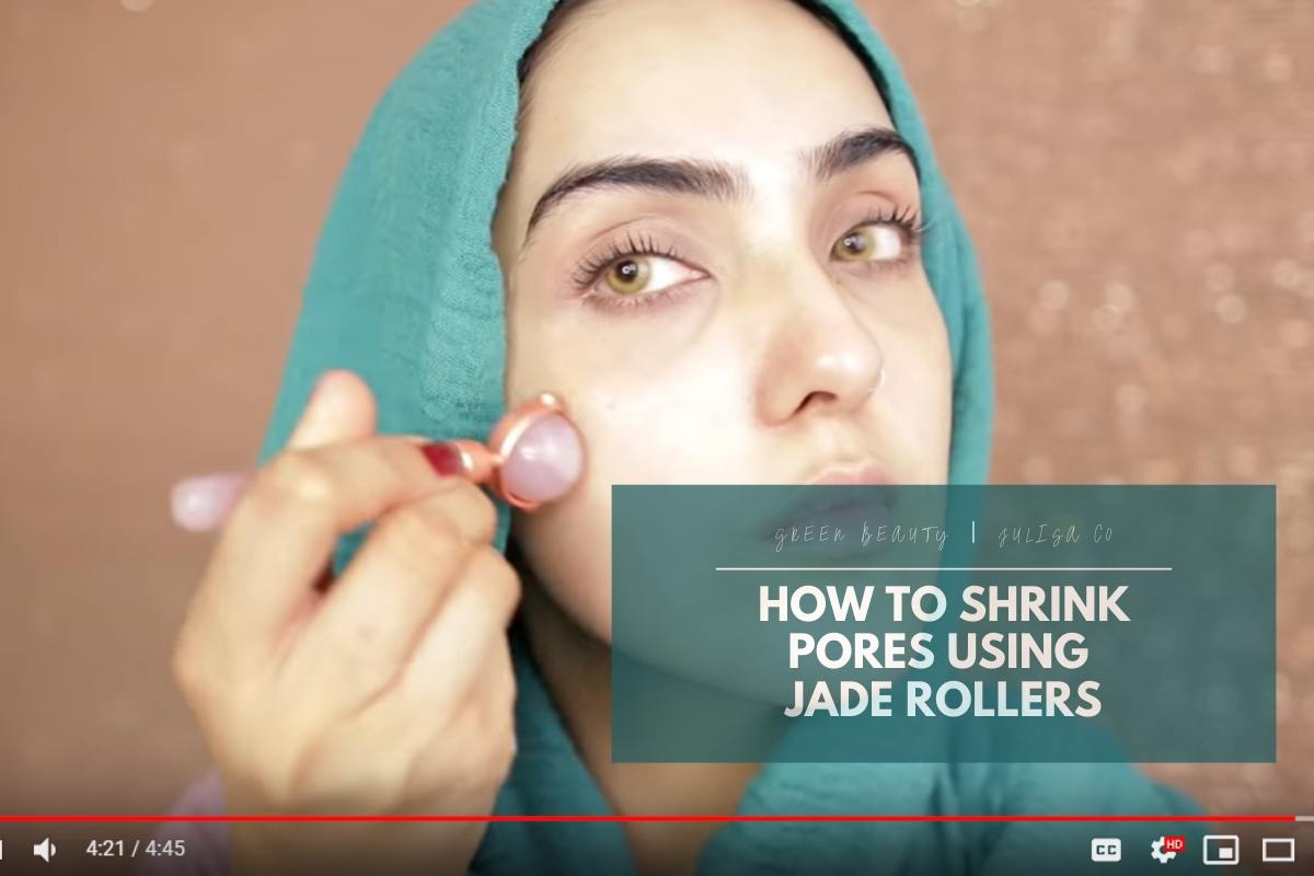 How To Shrink Pores: Deep Pore Unclogging Facial Cleanup Routine With Jade Rollers [VIDEO]
