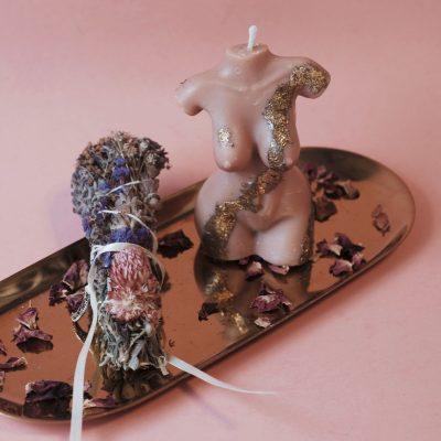 Mer-femme Soy Candle + Botanical Sage Smudge Kit | JULISA